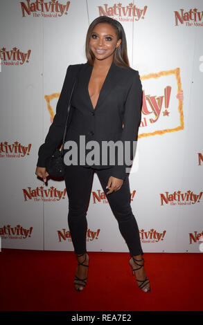Celebrities attend 'Nativity! The Musical' Press Night held at the Hammersmith Apollo theatre  Featuring: Samira Mighty Where: London, United Kingdom When: 20 Dec 2018 Credit: WENN.com - Stock Image