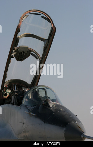 MiG29 two seater open cockpit canopy - Stock Image