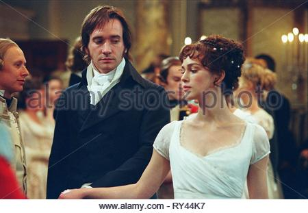 Matthew Macfadyen & Keira Knightley Film: Pride & Prejudice (UK/USA/FR 2005)  Character(s): Mr. Darcy & Elizabeth Bennet  / Literaturverfilmung (Based On The Book By Jane Austen) Director: Joe Wright 25 July 2005  SSI33165 Allstar Picture Library/WORKING TITLE  **Warning**  This Photograph is for editorial use only and is the copyright of WORKING TITLE  and/or the Photographer assigned by the Film or Production Company & can only be reproduced by publications in conjunction with the promotion of the above Film. A Mandatory Credit To WORKING TITLE is required. The Photographer should also be cr - Stock Image
