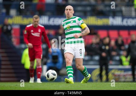 Hampden Park, Glasgow, UK. 14th Apr, 2019. Scottish Cup football, semi final, Aberdeen versus Celtic; Scott Brown of Celtic Credit: Action Plus Sports/Alamy Live News - Stock Image