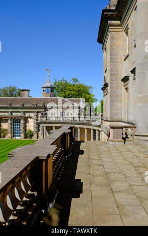 houghton hall, norfolk, england - Stock Image