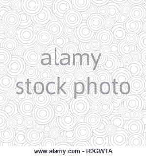 Abstract seamless pattern of circles - Stock Image