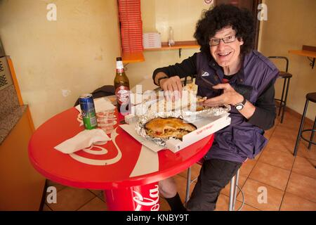 Pizza place Bologna, Italy. - Stock Image