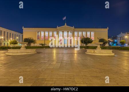 Panepistimio at Athens - Stock Image