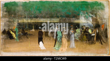 Cremorne Gardens, No. 2, painting, James McNeill Whistler, c. 1870 - Stock Image
