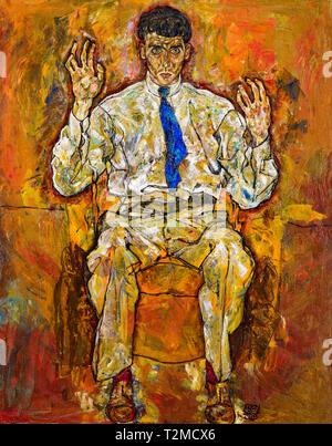 Egon Schiele, Portrait of Paris von Gtersloh (1887-1973), 1918 - Stock Image