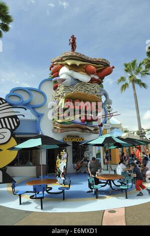 Blondie's food outlet, Universal Orlando Resort, Orlando, Florida, USA - Stock Image