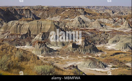 The Canadian Badlands of Drumheller, Alberta - Stock Image
