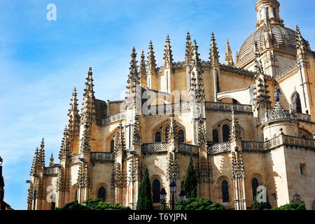 cathedral of segovia - Stock Image