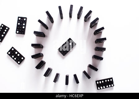 Dominoes in a circle - Stock Image