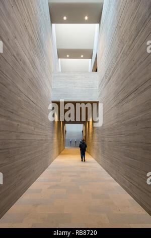 M9 Museo del Novecento - Museum of the 20th century Venice Mestre, building designed by Sauerbruch Hutton architects - interior - Stock Image
