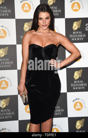 LONDON, UK. March 19, 2019: Faye Brookes arriving for the Royal Television Society Awards 2019 at the Grosvenor House Hotel, London. Picture: Steve Vas/Featureflash Credit: Paul Smith/Alamy Live News - Stock Image