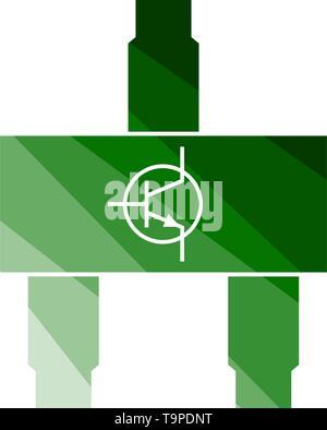 Smd Transistor Icon. Flat Color Ladder Design. Vector Illustration. - Stock Image