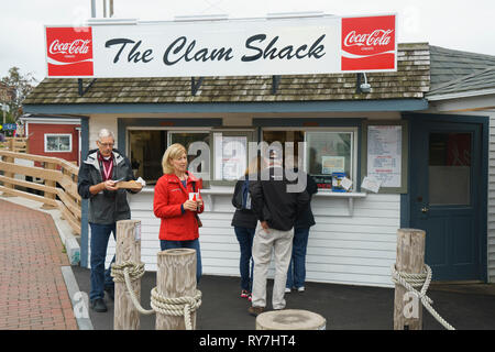 The Clam Shack, a seafood counter in Kennebunkport, Maine, USA. - Stock Image