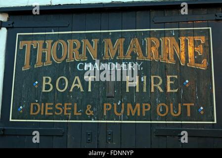 Thorn Marine Chandlery,Stockton Heath,Warrington,Cheshire,England,UK - Stock Image