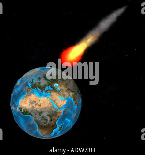 meteor over europe - Stock Image