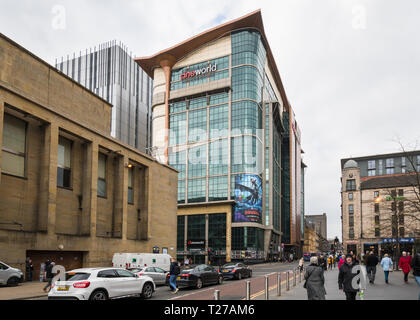 Cineworld building in Renfrew Street, Glasgow city centre, Scotland, UK - Stock Image