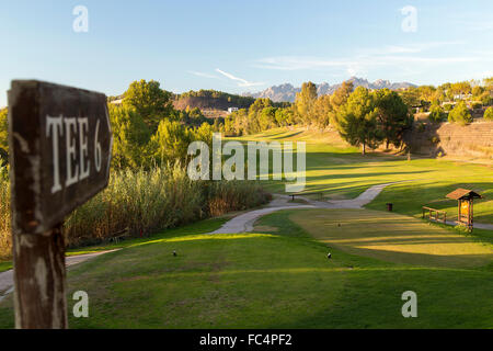 Spanish golf course - Stock Image