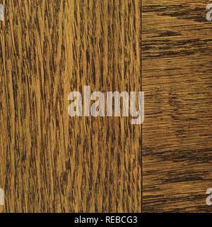 Oak grain veneer texture background, dark black brown natural vertical scratched textured pattern, large detailed rugged wood macro closeup, old aged  - Stock Image