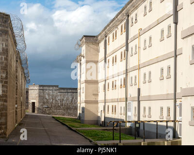 Cell blocks and buildings at Peterhead Prison, Scotland. Originally opened in 1888, the prison closed in 2013 and is now maintained as a museum. - Stock Image