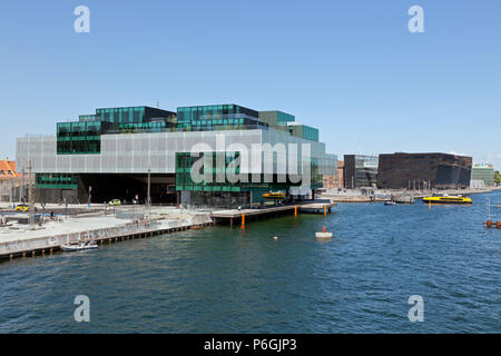 The BLOX building, a new prestige building for architecture and design on Christians Brygge at the waterfront at Frederiksholm Canal. - Stock Image