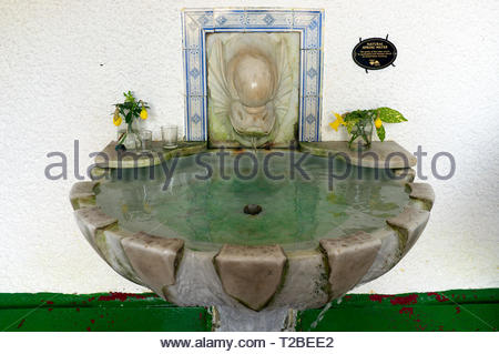 Natural spring water at St.Ann's Well, Great Malvern, Worcestershire, UK. - Stock Image