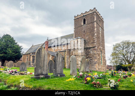 St Andrews,Church,Burton upon Stather,Scunthorpe - Stock Image