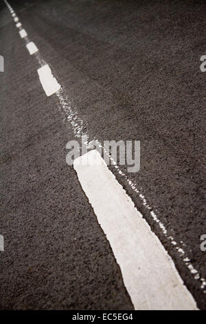 old road marking - Stock Image