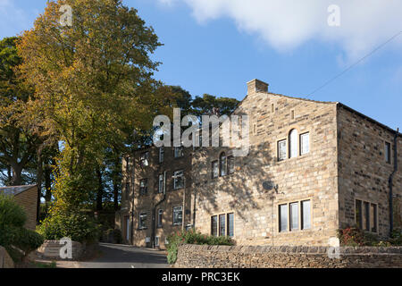 Yorkshire stone houses, Warley, West Yorkshire - Stock Image