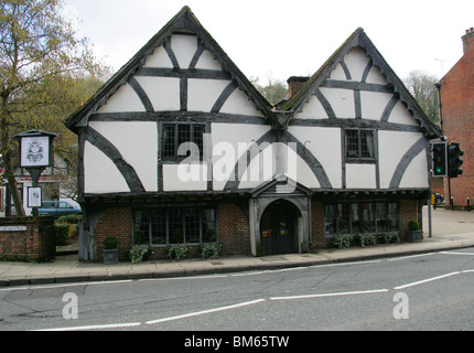 Old Chesil Rectory, Winchester, Hampshire, UK built 1450 Chesil Street - Stock Image