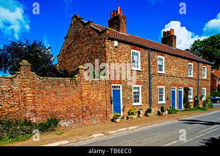 Cottages, Helperby, North Yorkshire, England - Stock Image