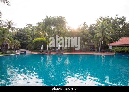Siem Reap, Angkor, Hotel Sofitel, Pool - Stock Image