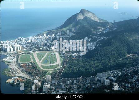Partial view upon Rio de Janeiro, Brazil, seen from Corcovado. - Stock Image
