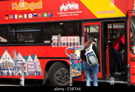 Sightseeing Bus Frankfurt - Stock Image