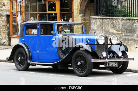A Talbot 265  75 car dating to 1933 parked in Burford in the Cotswolds, UK. - Stock Image