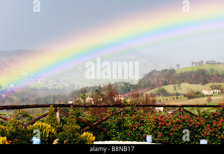 Somewhere over the Rainbow---in Le Marche ,Italy - Stock Image