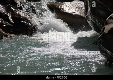 Wild water in a canyon - Stock Image