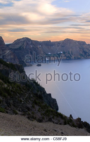 The Ghost Ship of Crater Lake National Park, Oregon, USA - Stock Image