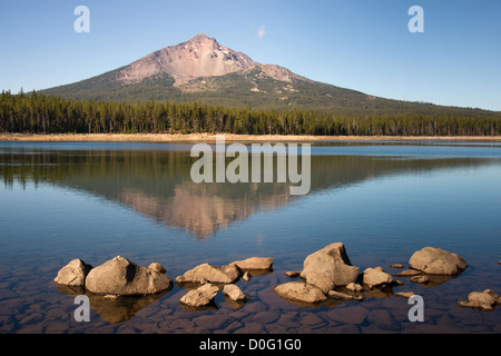 Mount Mcgloughlin part of the Cascade Chain in Oregon State - Stock Image