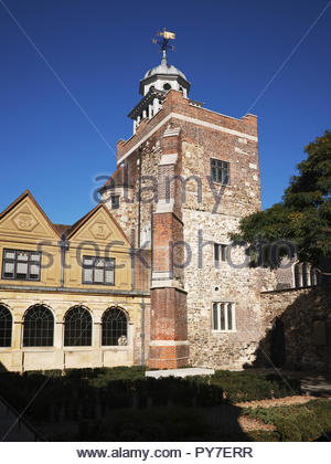 Chapel tower to the historic Charterhouse: London. - Stock Image