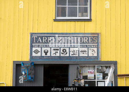 Tarbert Stores hardware shop on the Isle of Harris - Stock Image