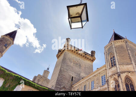 Duché Palace, Uzes, France seen from frog perspective - Stock Image