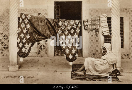 Jewish Lady's Pantaloons - on washing line - Tunisia. Their magnificence quite clearly warrants the personal guard...! - Stock Image