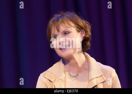 Walsall, West Midlands, UK. 22 March 2015. Madeline Smith English actress, James Bond girl 'Miss Caruso' in 'Live - Stock Image