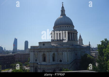 St Paul's Cathedral from One New Change, London, UK - Stock Image