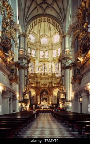 Interior of the Cathedral, Granada, Andalucia, Spain, Europe - Stock Image