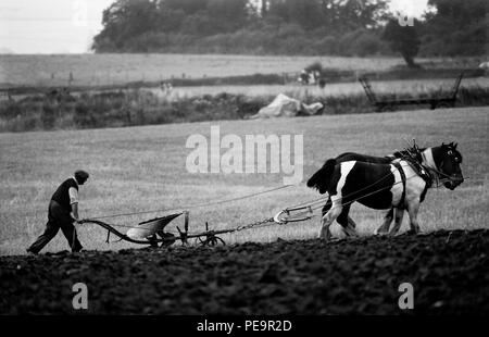 Ploughing Championships, West Country,England. 1979 - Stock Image