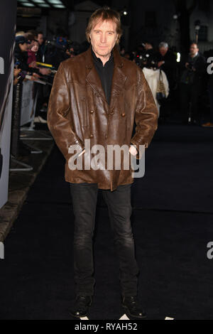 London, UK. 12th Mar, 2019. LONDON, UK. March 08, 2019: Rhys Ifans arriving for the premiere of 'The White Crow' at the Curzon Mayfair, London. Picture: Steve Vas/Featureflash Credit: Paul Smith/Alamy Live News - Stock Image
