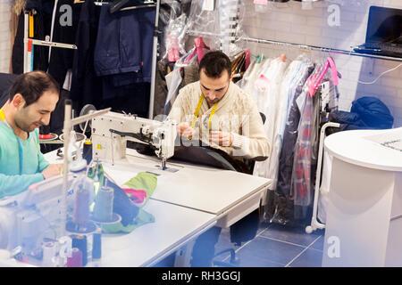 Tailors in studio - Stock Image