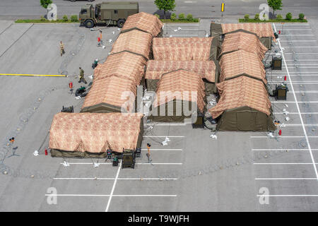 The international exercise of Allied Rapid Reaction Corps (ARRC) called Yellow Cross 2019 was held in Liberec, Czech Republic, on May 21, 2019. (CTK Photo/Radek Petrasek) - Stock Image